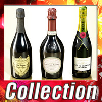 3 Champagne bottles collection